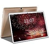 4G LTE Tablet 10 Pulgadas, Tableta Android 9.0, Quad-Core, Dual SIM - 4GB RAM + 64GB ROM  5.0+8.0 MP  WI-FI  Escalable 128GB  Bluetooth  Type-C  8000mAh Batería GPS Tablet PC Oro