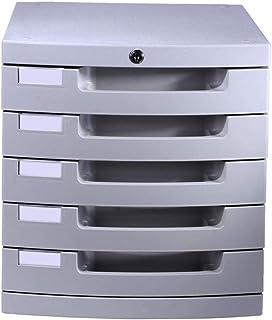 Module Classement 5 tiroirs avec organisateur d'armoire de rangement en plastique for classeurs - Gris 30X38X31.5cm 9-21
