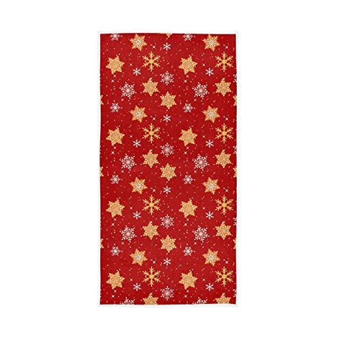 LUCKYEAH - Toallas de Navidad para niñas, mujeres, niños, toallas de mano de algodón, suave, absorbente, toalla de sudor, para casa, hotel, piscina, gimnasio, 76 x 38 cm