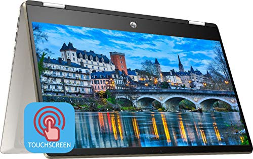 "2020 HP Pavilion X360 2-in-1 Convertible Business Laptop | 14"" FHD Touchscreen | 8th Gen Intel Core i5-8265U (> i7-7500U) 16GB RAM 1TB SSD | Backlit KB Fingerprint Win 10 + Delca 16GB SD Card"
