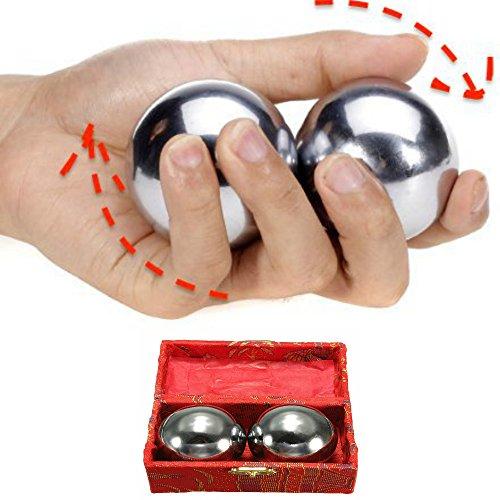 Sfere Baoding balls antistress in acciaio relax massaggio tonifica articolazioni e muscoli