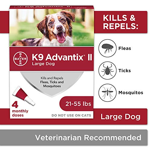 K9 Advantix II Flea and Tick Prevention for Large Dogs 4-Pack, 21-55 Pounds