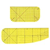 Hot Ironing Ruler Set for Sewing - Quilting Patchwork Measuring Tool Control Ruler for Patch Tailor Craft, Fabric Ruler Sewing Accessories and Supplies (Pack of 2)