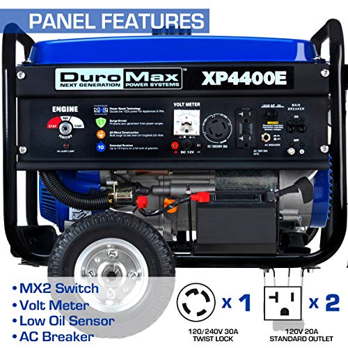 DuroMax XP4400E 4400 watt 7-Hp RV Grade Gas Generator with Electric Start