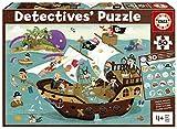 Educa Detectives Piratas. Puzzle Infantil de 50 Piezas. Móntalo y Busca los Objetos escondidos. +4 años. Ref. 18896