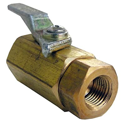 LASCO 17-0901 1/8-Inch Female Pipe Thread by 1/8-Inch Male Pipe Thread Brass Ball Valve by LASCO