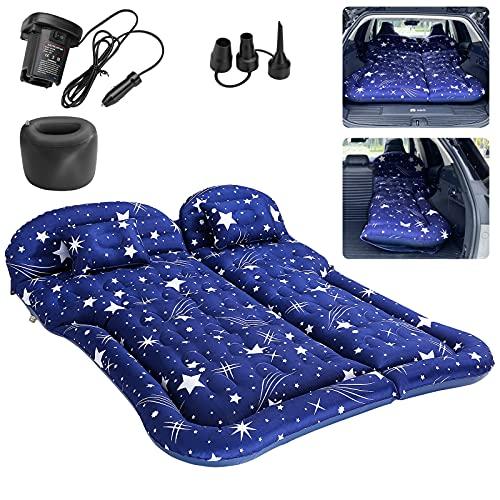 Sinjyun Colchón hinchable para vehículos todoterreno, para camping, SUV (azul)