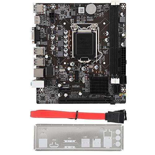 LGA1155 Desktop-Motherboard, Desktop-Mainboard, voll kompatibel mit DDR3-Desktop-Speicher für Intel-Chipsätze der H61-Serie, HD-Hochleistungs-HDMI-Core-Grafikkarte, Unterstützung für VGA + HDMI mit zw