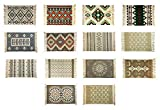 Alfombra de 60 x 90 cm, algodón, tejida a mano, alfombra de retales, alfombra tejida a mano (8)
