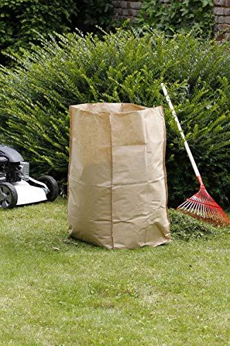 Nortene Lot de 5 Sacs à déchets Verts Paper Bag - 180 L