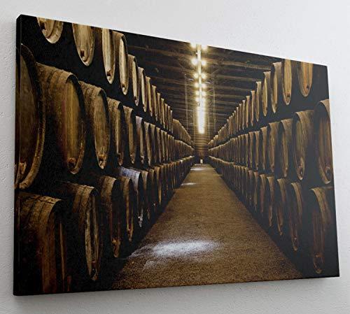 Fass Whisky Fasslagerung Leinwand Bild Wandbild Kunstdruck L0842 Größe 70 cm x 50 cm