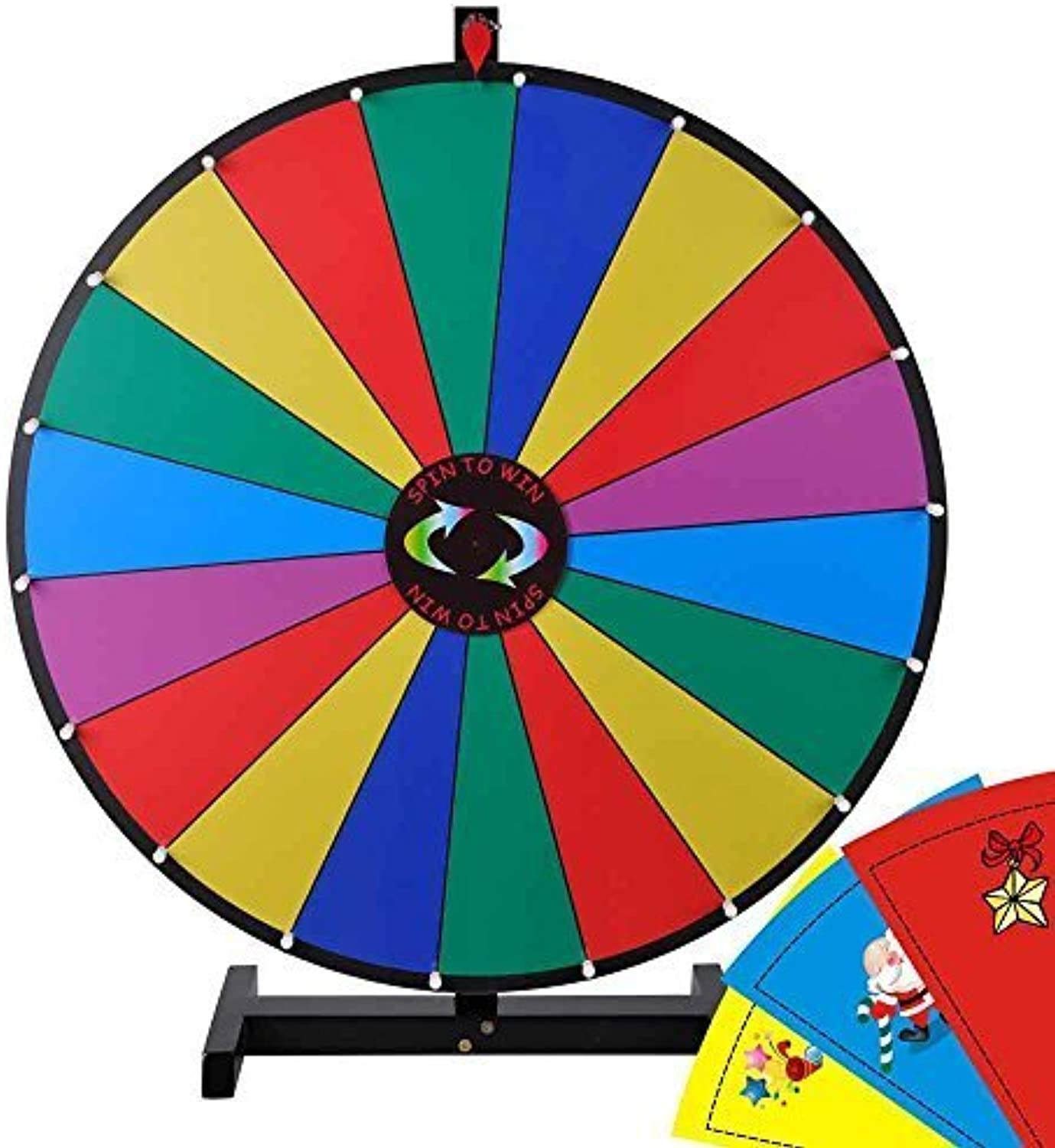 Yescom 18 Segment 30 Inch Tabletop Farbeful Spin Prize Wheel by