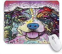 NINEHASA 可愛いマウスパッド オーストラリアンシェパードのカラフルなペットの犬 ノンスリップゴムバッキングコンピューターマウスパッドノートブックマウスマット
