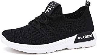 ZLYZS Zapatos De Jogging para Mujer, Zapatos para Caminar Livianos Zapatillas De Deporte De Malla Transpirable Zapatillas ...