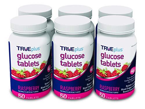 TRUEplus Glucose Tablets, Raspberry Flavor - 50ct Bottle  6 Pack