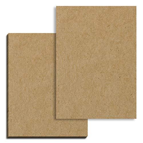 50 Blatt, Braun Kraftpapier Karton A4, 200 g/m²