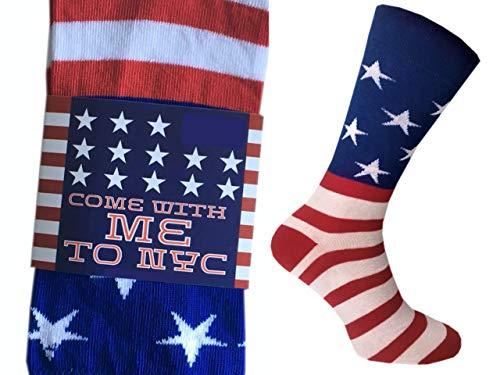CHiLI Lifestyle Socks - Motivsocken Lustige Bunte Witzige Socken Verrückte Modische Ausgefallene Mehrfarbige Socken Spruch Socken mit Motiv Geschenk Baumwolle Strümpfe America USA New York US, 41-44