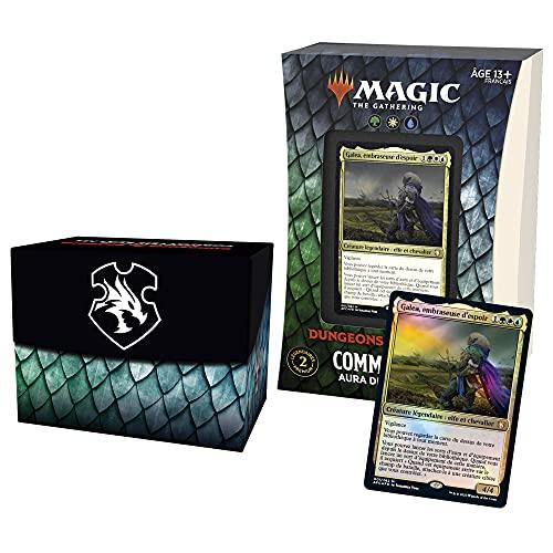 Magic: The Gathering- Deck Commander Forgotten Realms : Aventures dans Les Royaumes Oubliés – Aura de Courage (Vert-Blanc-Bleu)