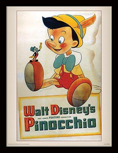 Pyramid International Pinocchio (Conscience) 30x40 cm gerahmter Druck, 250GSM PAPERWRAP MDF, Mehrfarbig, 44 x 33 x 4 cm