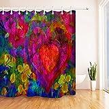 NNAYD1996 Valentine Love Heart Pintura Al óleo Impresión Digital a Prueba de Agua y Moho