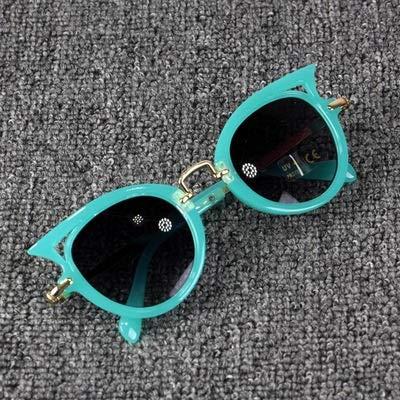 xingxing Gafas de sol de neón con protección UV400 para niños y niñas (color del marco: otros, color de las lentes: verde).