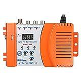 KKmoon Modulador compacto de RF Audio Video Convertidor de TV Amplificador de se馻l UHF RHF AC230V
