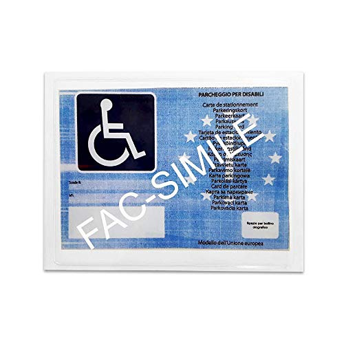 Quattroerre 1609, Tarjeta de Estacionamiento para Discapacitados, 12 X 16 cm