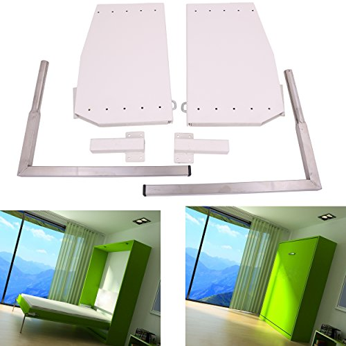 ECLV - Kit de herramientas de montaje de cama Murphy para pared, montaje vertical para cama de pared, tamaño king, color blanco