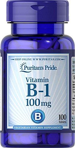 Puritan's Pride Vitamine B1 100 mg Vegetarian Formula 100 Tabletten 1670
