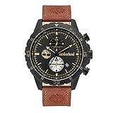 TIMBERLAND Reloj DUNFORD 46MM Black DIAL Brown Leather Strap - TBL.16003JYB-02