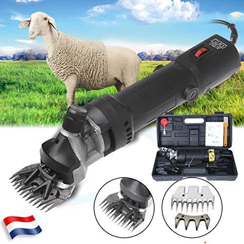 Sinbide - Cortapelos de ovejas con 6 velocidades ajustables, máquina cortadora eléctrica profesional, tijeras para ovejas cabras Lamas Alpacas