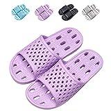 Best Mildew Resistant Shower Mats - Shower Flip Flops Women Shower Shoes with holes Review