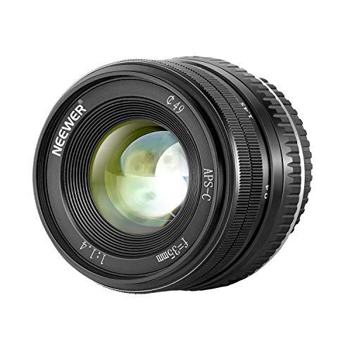 Neewer 35mm F1.4 大口径プライムAPS-Cアルミニウムレンズ Fuji XマウントミラーレスカメラX-A1 X-A10 X-A2 X-A3 X-at X-M1 X-M2 X-T1 X-T10 X-T2 X-T20 X-Pro1 X-Pro2 X-E1 X-E2 X-E2sに対応