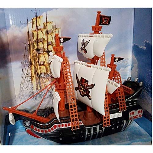 Piratas Barco Juguete de Diseño Realista/para niños a Partir de 3 Años, 27x10x30 cm