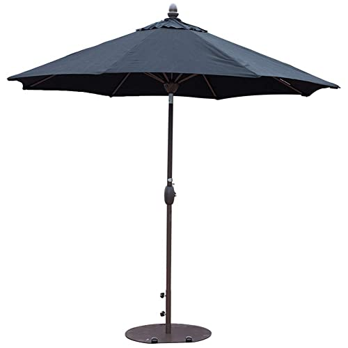 SORARA Sunbrella Patio Umbrella 9-Feet Outdoor Market Table Umbrella with Auto Tilt&Crank&Umbrella Cover,