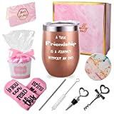 MARCHIORI Cup Gift Set Friends Gift A True Friendship is a Journey Without an end-Birthday Gifts for Friends Female Cupcake Socks Gift Set, Gift for Friend Birthday Gift