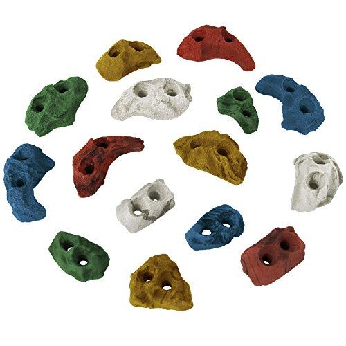 ALPIDEX Klettergriffe Klettersteine Tritte Größe XS - 15, 30, 60, 120 Stück, Farbe:bunt, Verpackungseinheit:15 Stück
