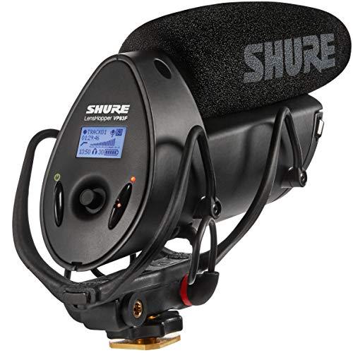 Shure VP83F Lenshopper – Robustes, extrem leichtes Kamera Mikrofon mit integriertem Flash-Recorder & Kopfhöreranschluss – Für hochauflösende Audioaufnahmen – Schwarz
