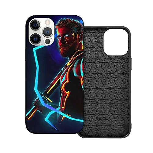 VOROY Superhero-Thor A-P-P-L-E - Carcasa para iPhone 12, color negro