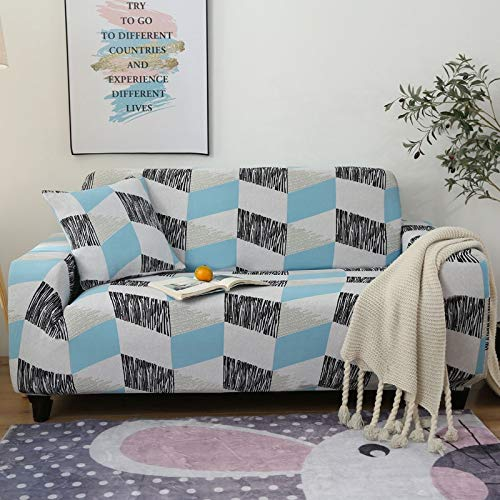 Fundas de sofá elásticas Modernas para sofá, Fundas para sofá, Fundas Protectoras para sillas, Fundas de sofá para Sala de Estar A12, 4 plazas