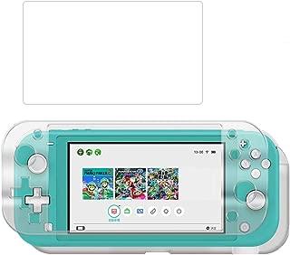 Nintendo Switch liteクリアカバー+ガラス保護フィルム ニンテンドースイッチ lite ケース ハードケース 硬度9H 着脱簡単/耐衝撃/高透明/超薄型/キズ防止/撥油性/指紋防止 持ち運び