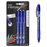 BIC Intensity Illusion Gel-Roller (0, 7mm) in Blau – Nachfüllbarer Gelschreiber mit Radierbarer Tinte – Fester Griff für maximalen Schreibkomfort – 3er Set