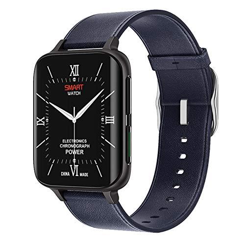 JXFF DT93 Smart Watch 1,78 Pulgadas Pantalla hiperboloides admite Llamadas Bluetooth Papel Pintado Personalizado SmartWatch Hombres y Mujeres para Android iOS,B