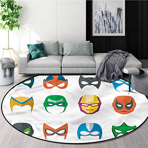 Why Choose RUGSMAT Superhero Dining Room Home Bedroom Carpet Floor Mat,Powerful Alliance Masks Patte...