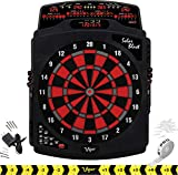 Viper by GLD Products Solar Blast Electronic Dartboard Deluxe Size Over 55 Games Overhead 4-Panel Auto-Scoring LCD Cricket Display with Impact-Tough Nylon Target for Lasting Durability Fewer Bounce Outs with Soft Tip Darts, black, one size
