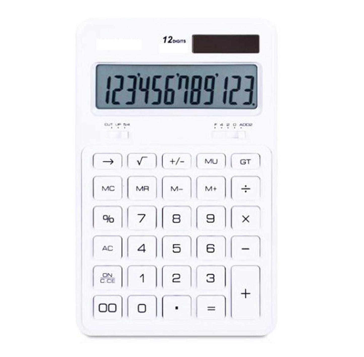 やろうペン引っ張る電卓 12ビットクリスタルボタン デュアルパワー電卓 クリスタル電卓 オフィス ビジネス ソーラー電卓