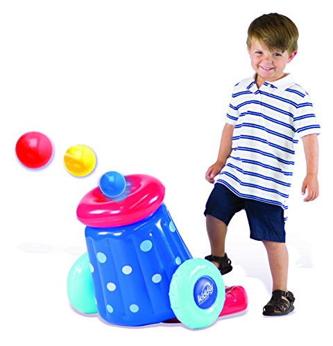 Kiddy Up Pit Ball Cannon Blaster Playset Includes 10 Crush Resistant Pit Balls