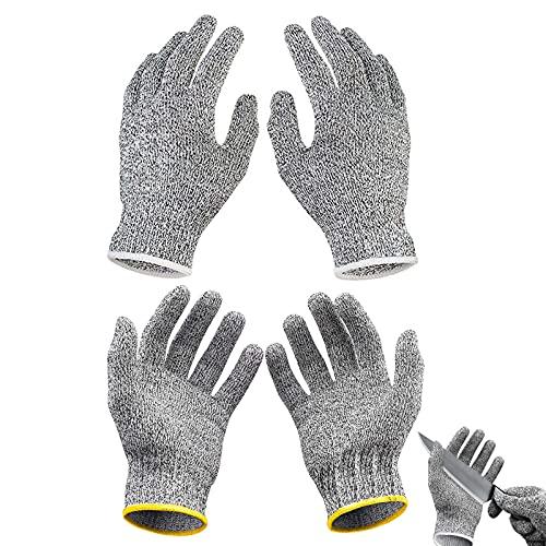 GZjiyu - 2 pares de guantes para tallar para niños, nivel 5, guantes de protección para cocina, tallar, jardinería, pelar y trabajar (S y L)