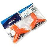 Hobbypower Gemfan 5030 Props ABS 3-Blade Propeller for Mini Quadcopter H250 QAV250 QAV280 Orange (Pack of 4 Pairs)