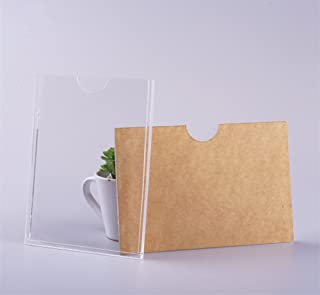 Plexiglass A3 Acrylic Wall Sign Holder 11x17 Vertical, Clear Plastic Ads Frame for Paper Without Screws